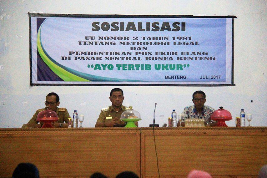 Wakil Bupati Kepulauan Selayar Sosialisasi Metro Legal & Pos Ukur Ulang