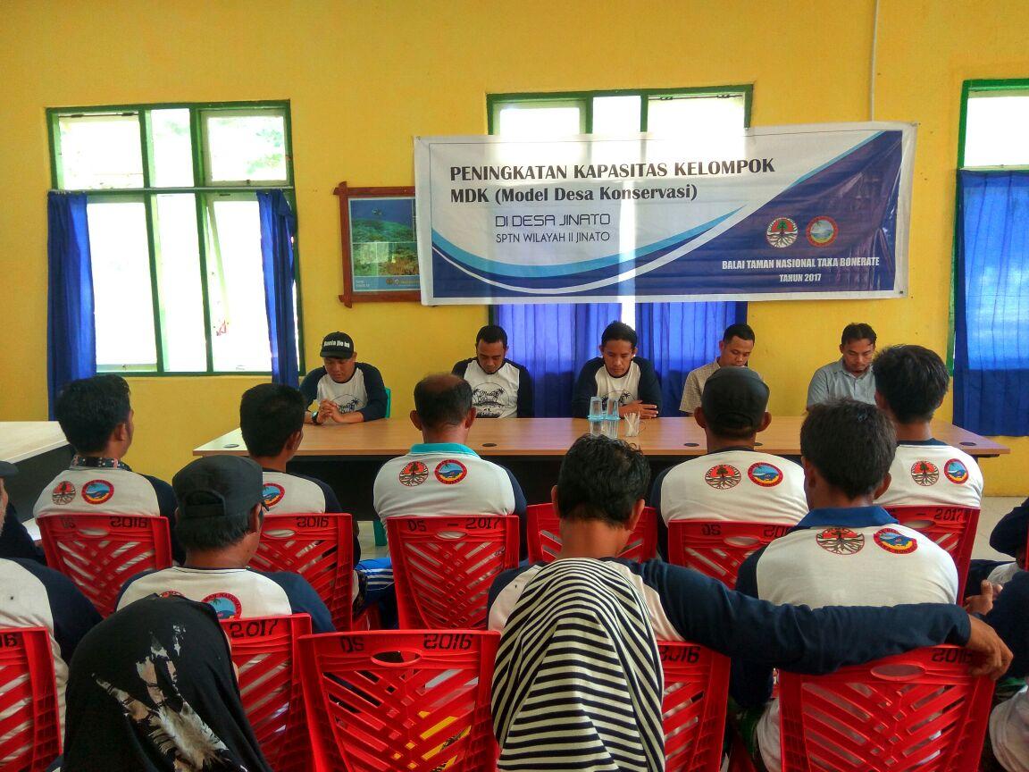 Balai Taman Nasional Taka Bonerate Gelar Peningkatan Kapasitas Kelompok Model Desa Konservasi