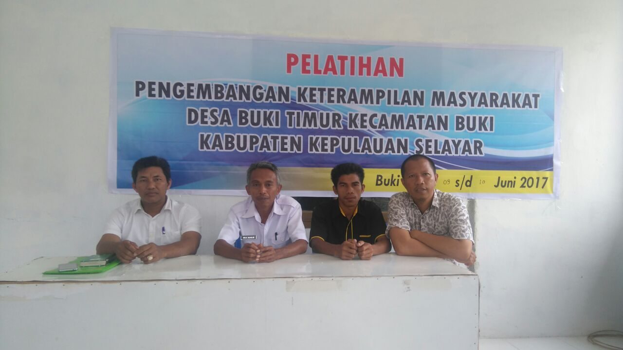 Dukung Program Pariwisata, Pemerintah Desa Buki Timur Gelar Pelatihan Pemberdayaan Masyarakat