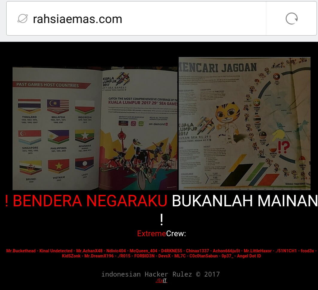 Gara Gara Bendera Indonesia Terbalik, Puluhan Situs Malaysia Tumbang Diretas Hacker