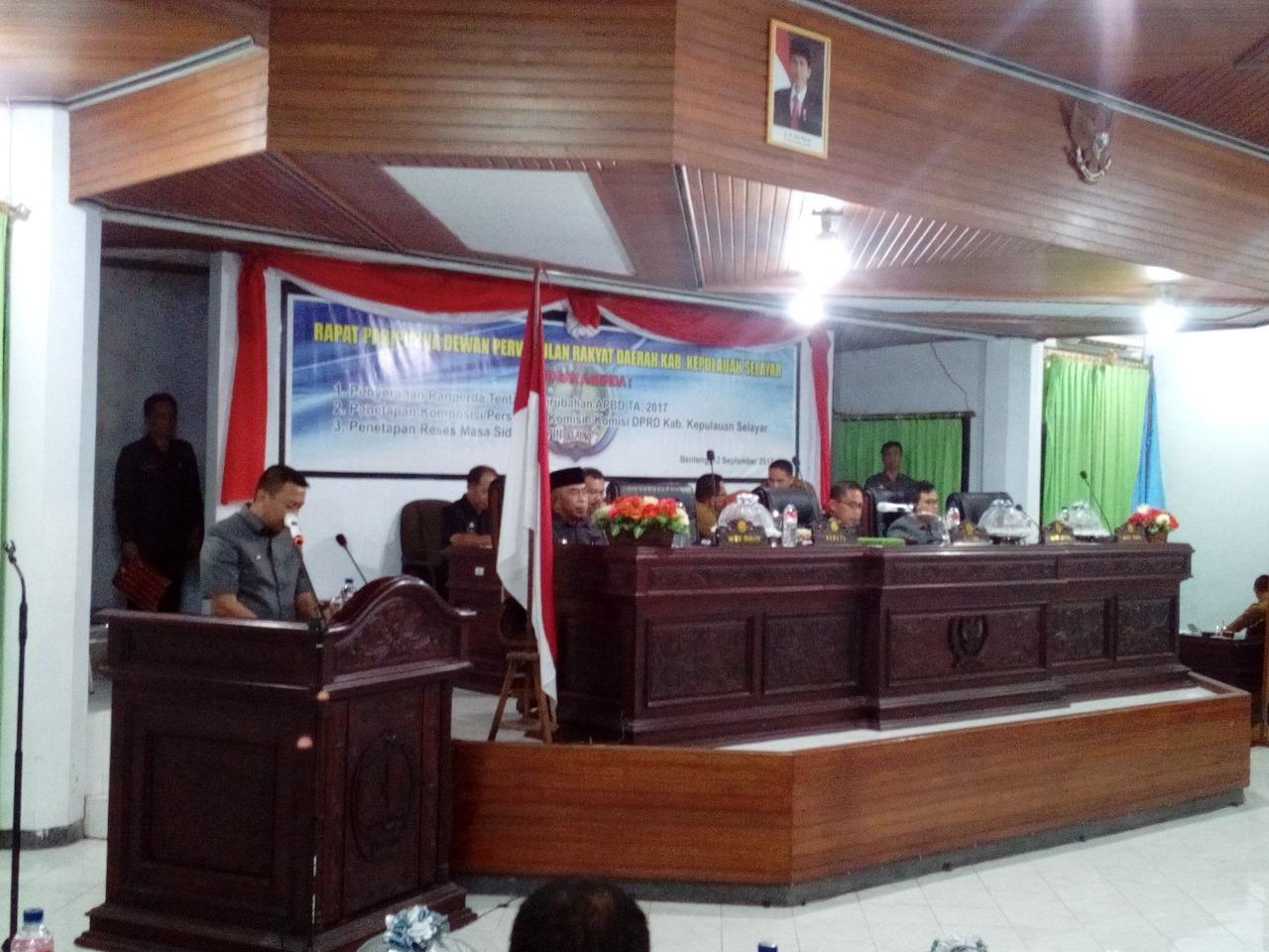 DPRD Kepulauan Selayar Gelar Rapat Paripurna dengan 3 Agenda Sekaligus