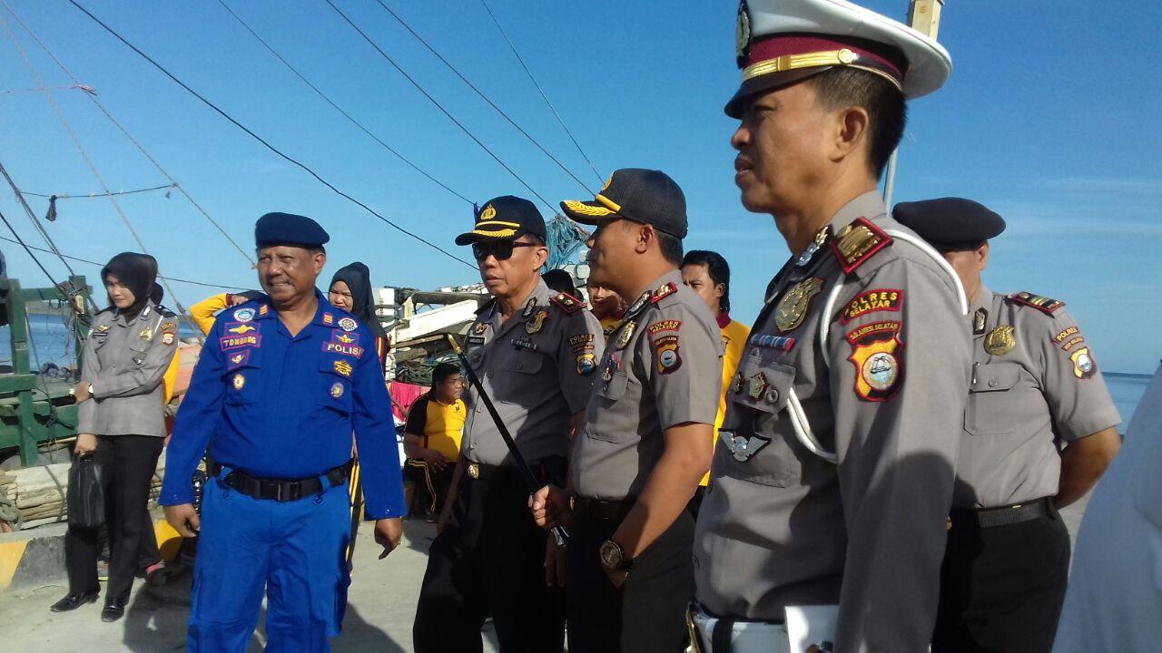 Terima Bantuan 3 Unit Kapal C3, Kapolres Kepulauan Selayar Tegaskan Akan Tindak Pelaku Illegal Fishing