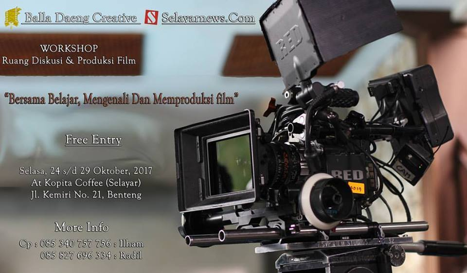 Selayar News Gandeng Cineas Muda Makassar Gelar Workshop & Diskusi Film di Selayar