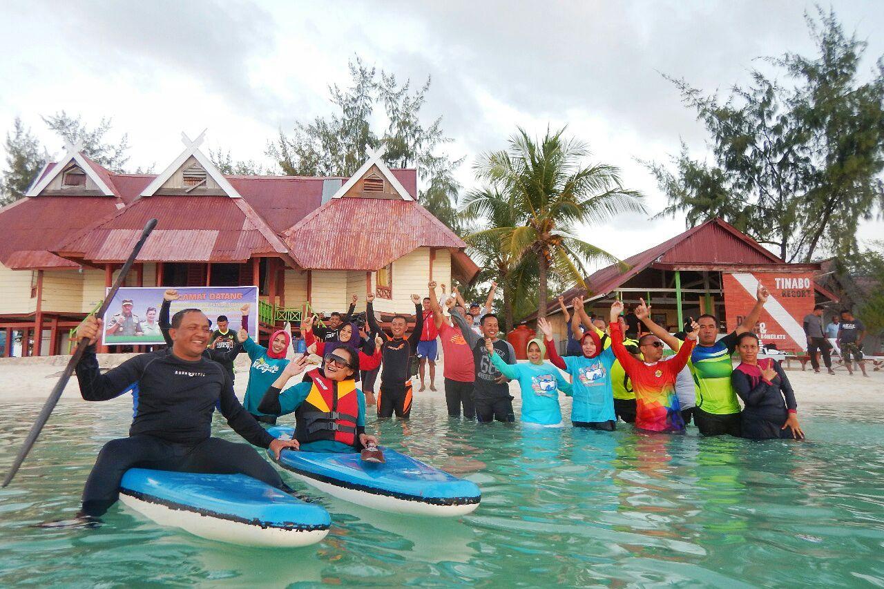 Pangdam XIV Hasanuddin kagumi Keindahan Tinabo,Taman Nasional Taka Bonerate