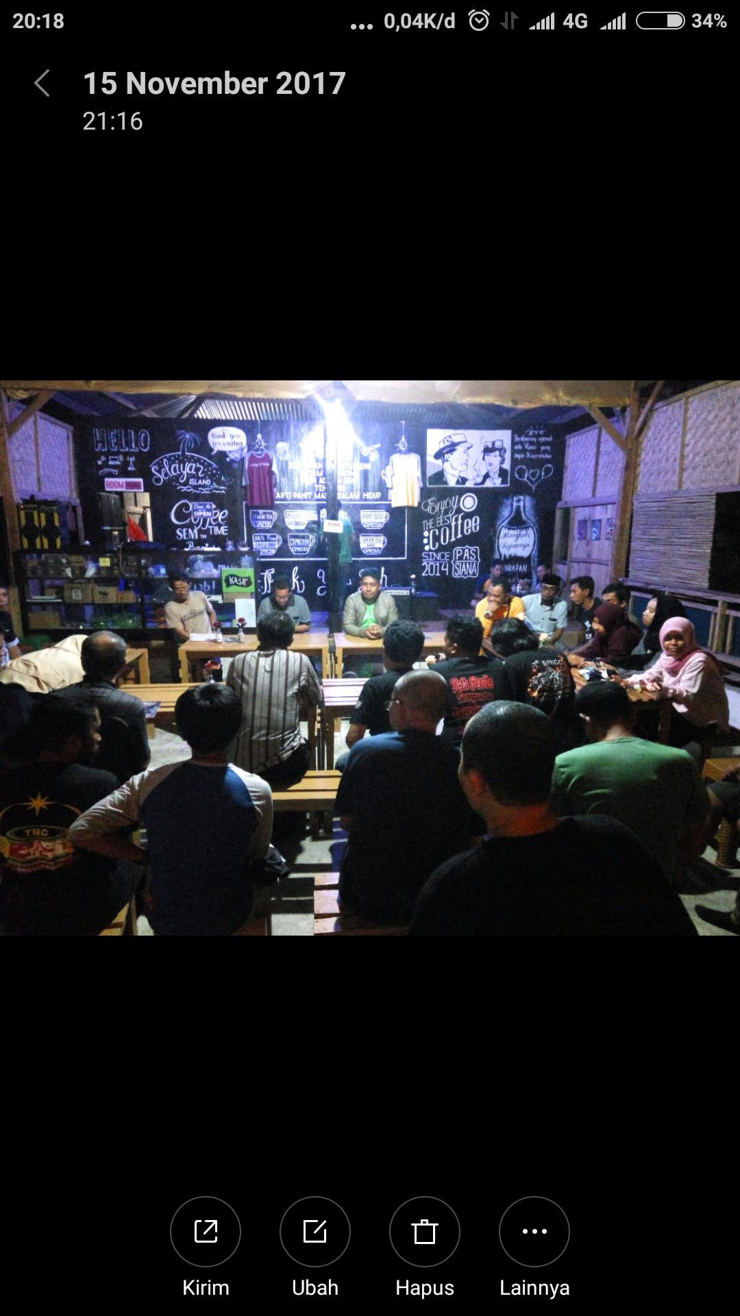 Sukseskan Event 2018, Kepala Dinas Pariwisata Kepulauan Selayar Ngopi Bareng Komunitas